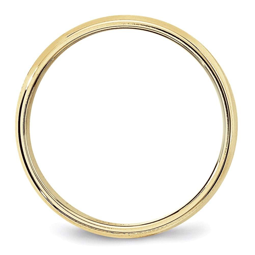 Lex /& Lu 10k Yellow Gold 6mm Milgrain Half Round Band Ring