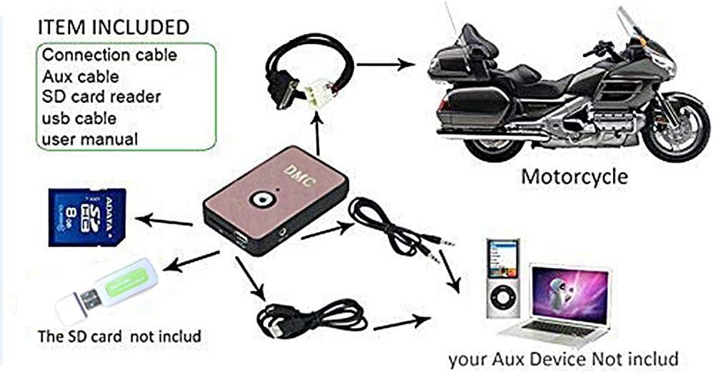 TCMT Digital Music CD MP3 Changer Player Fits For Honda Goldwing ...