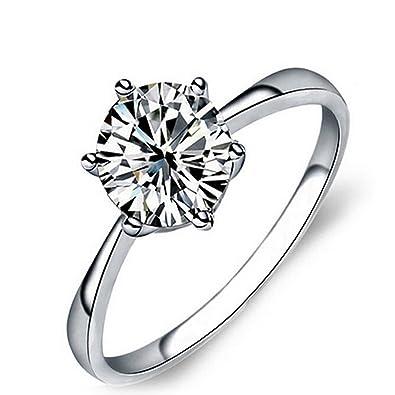 Ulanda Eu Womens Rings Sterling Silver Ladies Ring Princess Luxury
