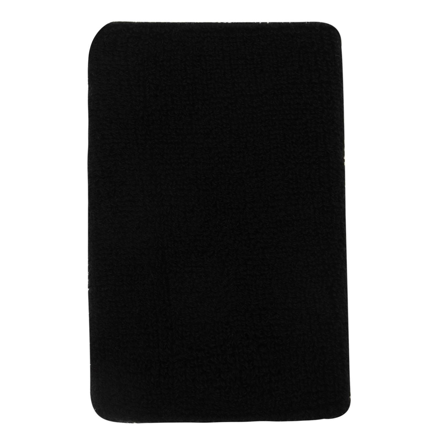760ec97b7c Slazenger Unisex 2 Pack Double Wristbands Black One Size: Amazon.co.uk:  Clothing