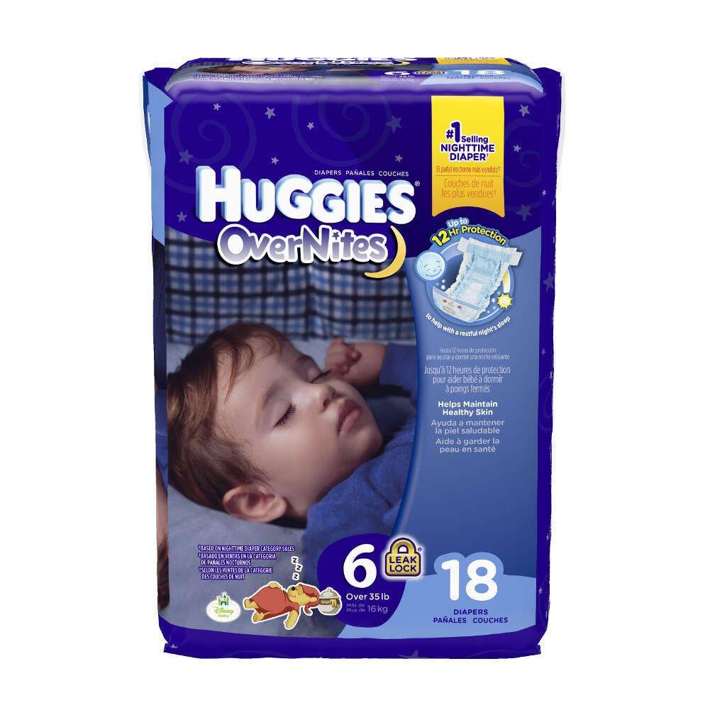 ハギーズOvernitesおむつfeaturing Sleepy Winnie Pooh、ユニセックスサイズ6、40685 (ケースof 72 )   B00WXJHPMC