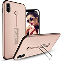 iPhone Xs X 10 Case, Hybrid Finger Ring Band with Kickstand Case Hand Strap Grip Holder Stand for Apple iPhone Xs X (iPhone Xs X, Rose Gold)