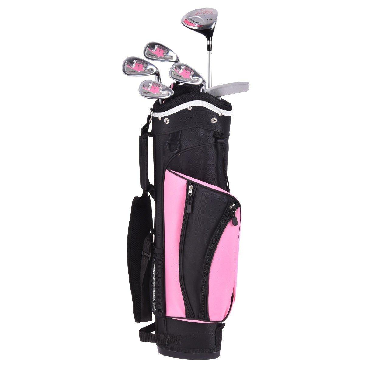 6 Piece Wood Iron Putter Golf Club Set w/ Stand Bag