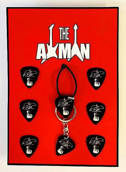 Axman Rick Parfitt (Status Quo) - Colgante, Llavero y 6 púas ...