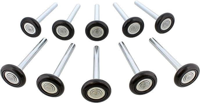 ABN Ruedas de repuesto para puerta de garaje silenciosas, rodamiento de bolas de 2 en 13 de 4 pulgadas, 10 unidades: Amazon.es: Bricolaje y herramientas