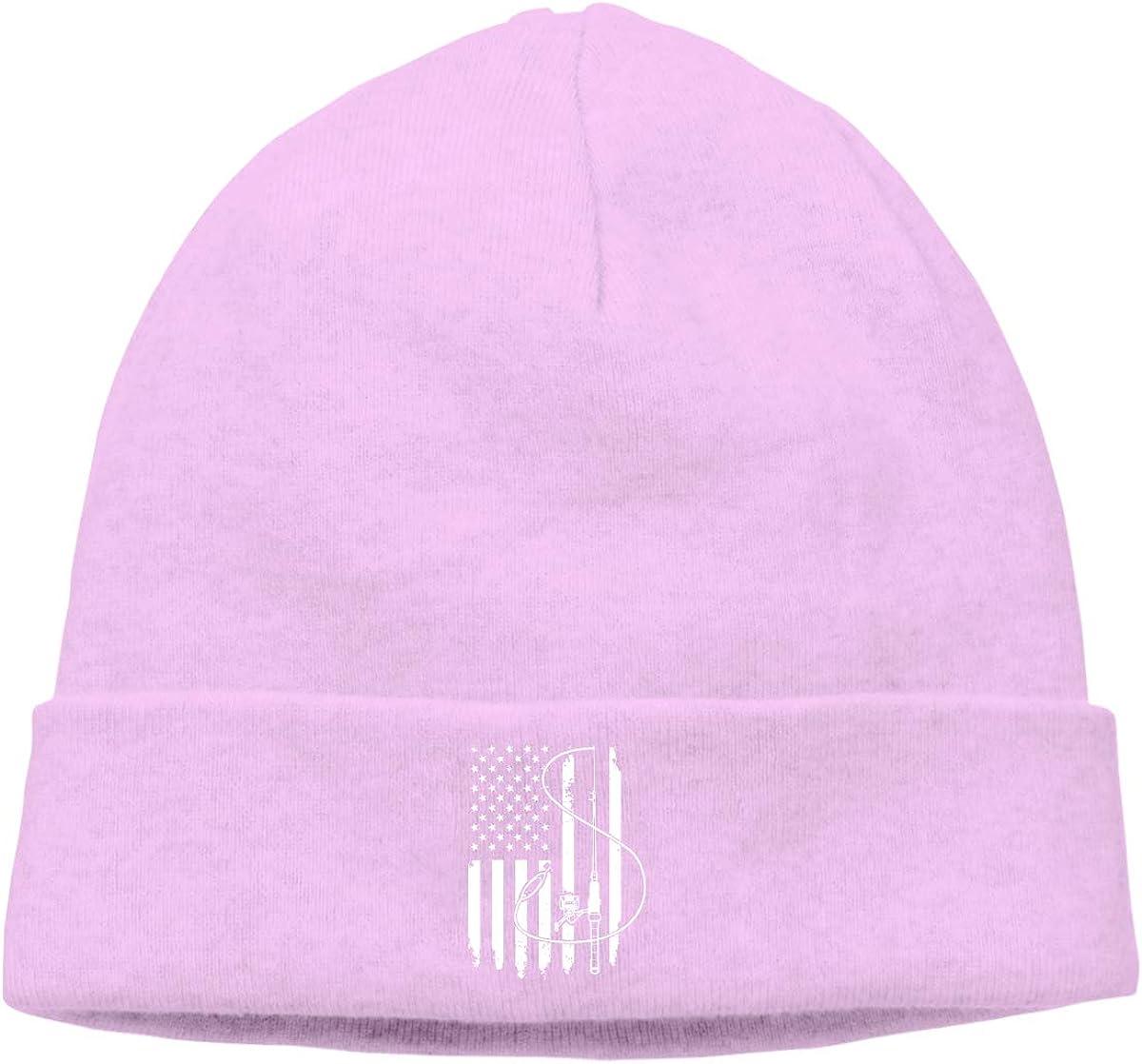 Fishing Fish Flag DFKD JKFD Unisex Knitted Hat Skull Hat Beanie Cap for Mens and Womens