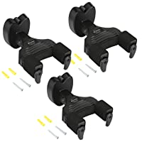Donner 3-Pack Wall Guitar Mount Auto Lock Guitar Hanger For Guitar Bass Black