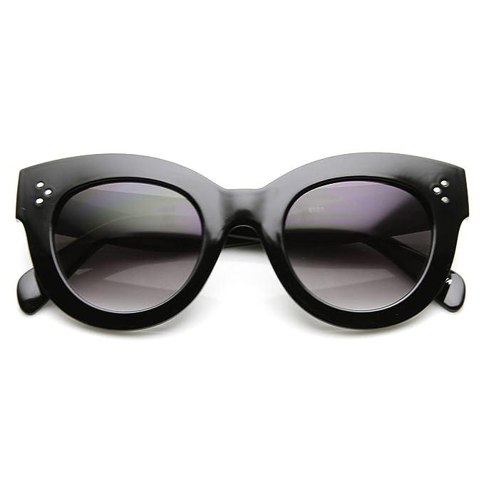 De alta Fashion Bold con borde gafas de sol de tamaño maxi ...