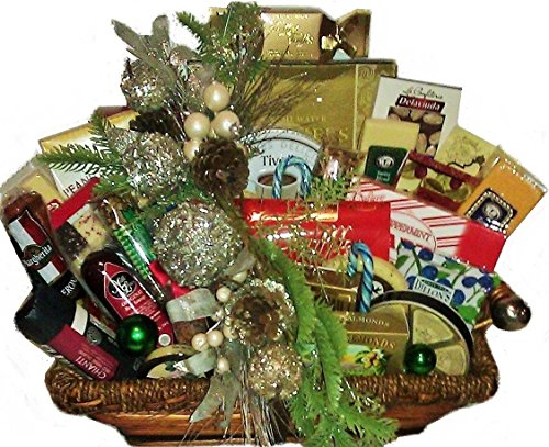 Razzle Dazzle Christmas Party Deluxe Gourmet Basket - Large by Goldspan Gift Baskets