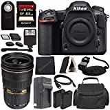 Nikon D500 DSLR Camera (Body Only) + Nikon AF-S NIKKOR 24-70mm f/2.8G ED Lens + Rechargable Li-Ion Battery + Home and Car External Charger + Sony 64GB SDXC Card + HDMI Cable + Remote + Flash Bundle