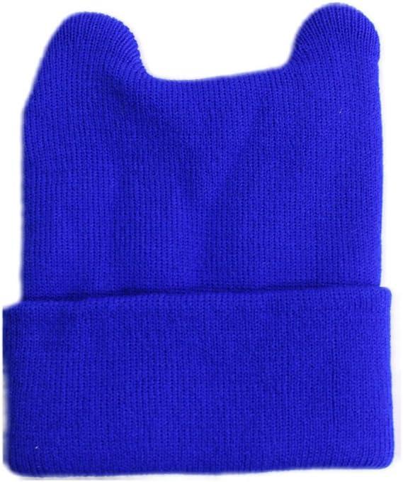 キッズニット帽子 キッズ ニット帽 かわいい 子ども 帽子 カラフル くま うさぎ プレゼント ベビー キャップ 赤ちゃん 帽子 12color (ブルー)
