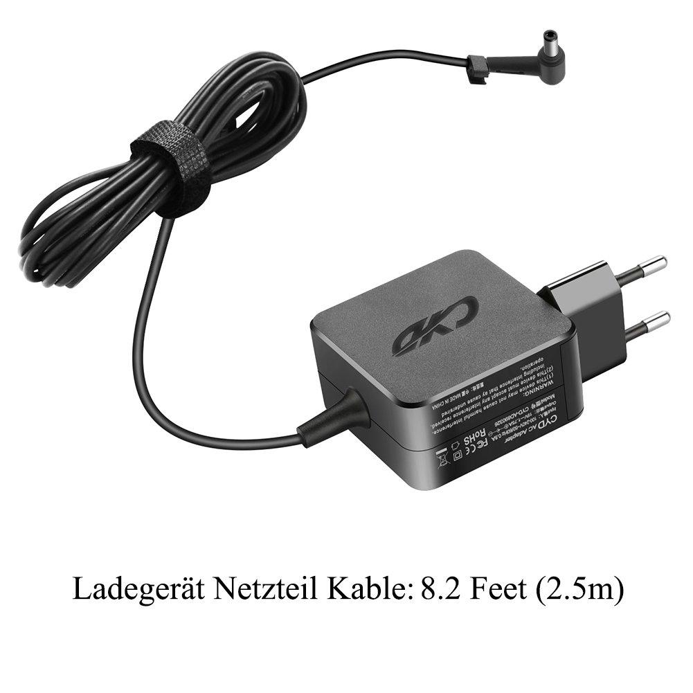 CYD 45W Portátile-Netbook-Cargador y Asus Zenbook Eee Box AD883J20 AD883220 G1 G2 L3 L5 L8 S5 U3 U5 U6 W3 W7 Z3 Z7 Z9 ASUS RT-AC88U RT-AC87U RT-AC3200 ...