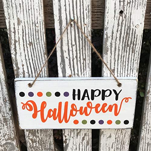 Happy Halloween Wood Sign Front Porch Decor Door Hanger Wreath Hanger Fall Sign Halloween Decor Outdoor Sign -