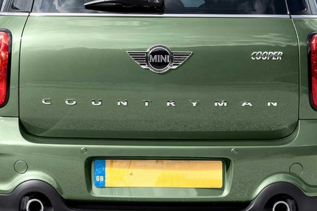 Mini Countryman Lettering Logo Rear Hatch Oem R60 Amazoncouk Car