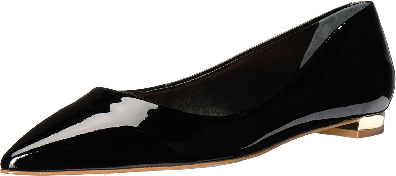 Massimo Matteo Womens Pointy Toe Flat 17 B01MTRB8O6 11 B(M) US|Black Patent