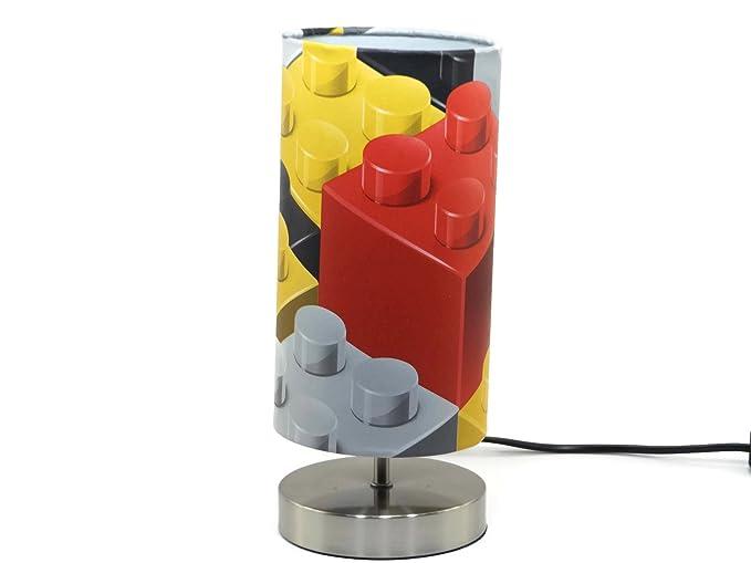 Lego Lamp Light Lampshade Bedside Table Desk Lamps Boys Kids Childrenu0027s  Bedroom Accessories Blocks Bricks Night