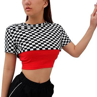 1c14d22edb9 VEMOW 2018 Tops for Women Ladies Girls UK for Work Home Office Print Zip  Polyester Summer