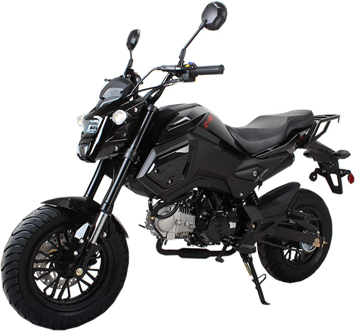 X-PRO 125cc Vader Adult Motorcycle Gas Motorcycle Dirt Motorcycle Street Bike Motorcycle Bike-Black