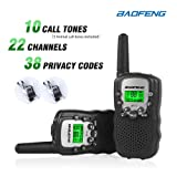 Baofeng T-3 Handheld Walkie Talkies For Kids & Adults, UHF 462.5625 - 467.7250MHz FRS/GMRS Two-Way Radio Transceiver For Children & Youth, 2 Waterproof Cases Included, 1 Pair (2 Pcs) (Black)