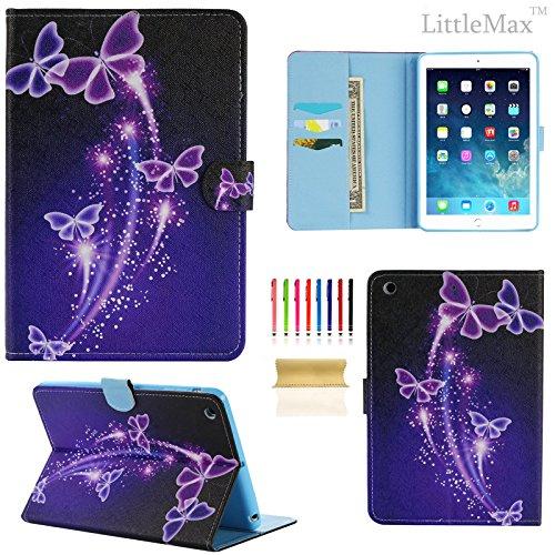 iPad Mini 3 Case,LittleMax(TM) Kickstand Faux Leather Case Smart [Auto  Wake/Sleep] Wallet Case [Magnet Clasp] Flip Cover for iPad Mini 1/2/3 [Free