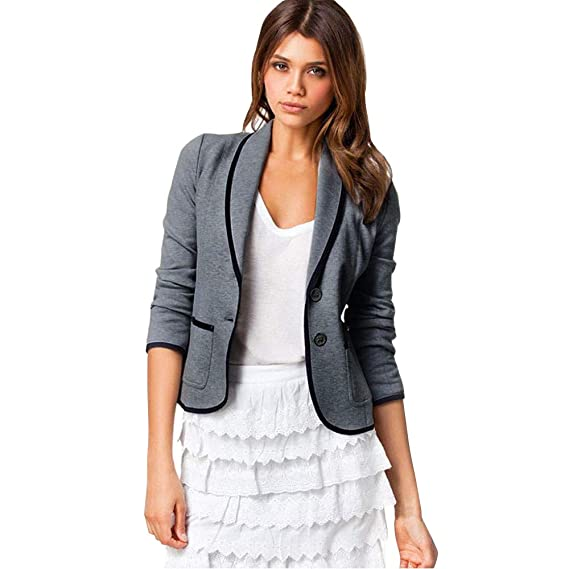 6c06485ca90 MRULIC Elegant Women Office Lady Casual Business Coat Blazer Suit Long  Sleeve Tops Slim Jacket Outwear  Amazon.co.uk  Clothing