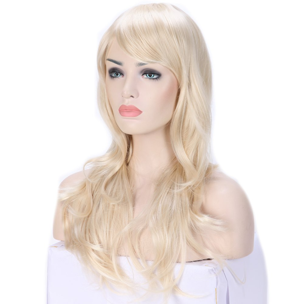 Long Ombre Cosplay Hair Wig Women Wavy Synthetic Costume Wig 28 Black to Red