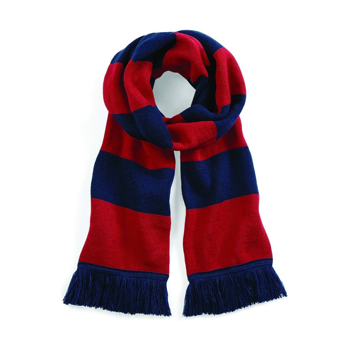 Beechfield Varsity Scarf - Black/Classic Red BEE-184