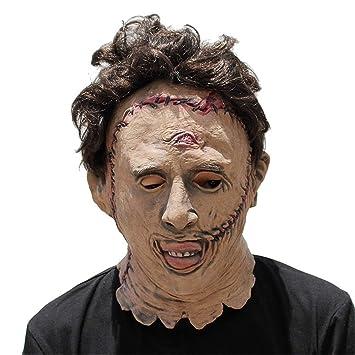 JUKUB Texas Motosierra Asesino Máscara De Halloween Decoración Disfraces Máscara Cosplay Máscara De Cabeza Completa Látex