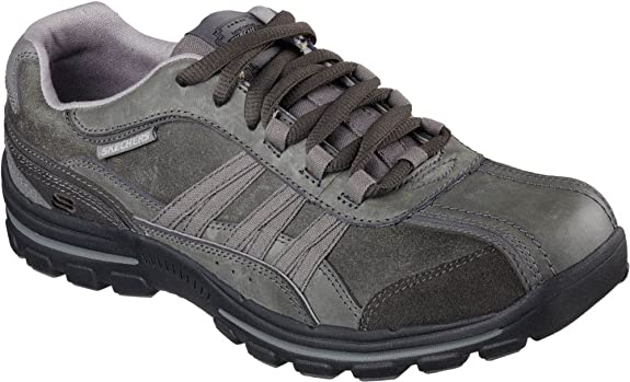 SkechersBraver Nostic - Zapatos Planos con Cordones Hombre, Color Marrón, Talla 39.5 EU