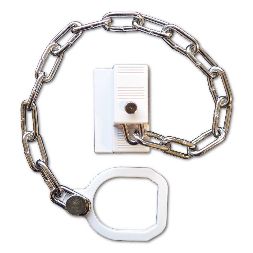 ASEC - Entrebâ illeur de porte - chaî ne avec anneau - pour porte en PVC rigide