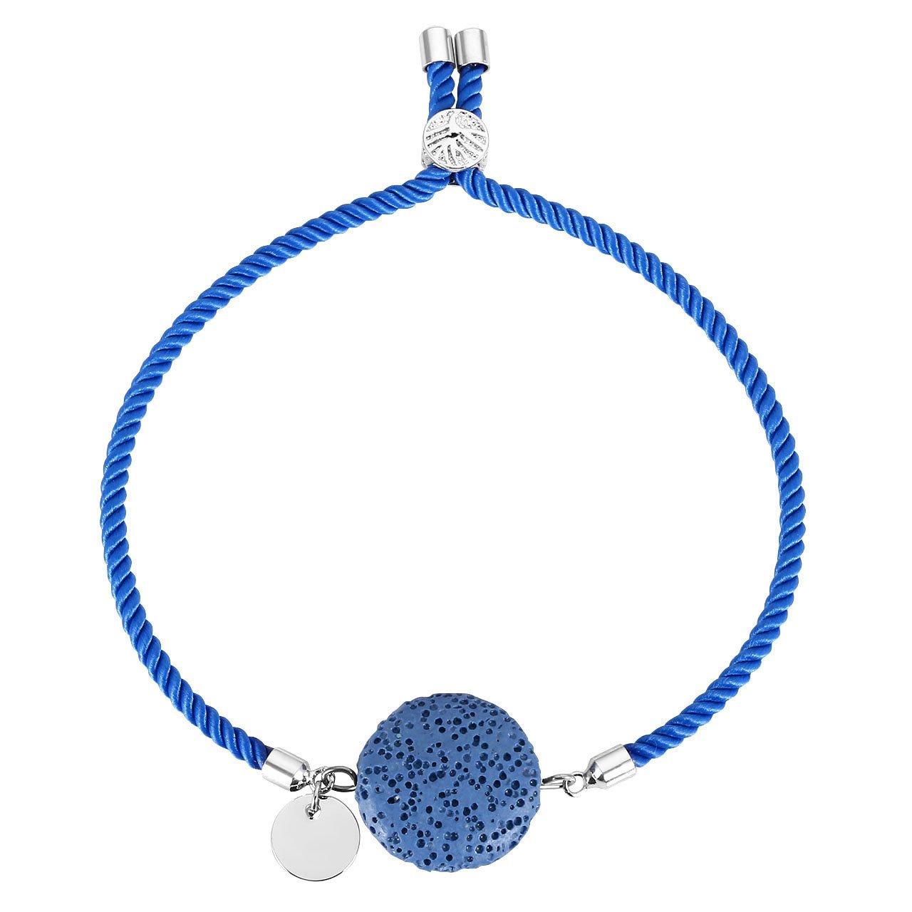 Friendship Bracelets Best Gift-Sky Blue CrystalTears Round Lava Rock Stone Diffuser for Essential Oil,Tree of Life Wrist Bracelet