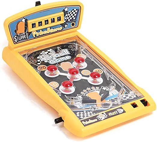 Luces y Sonidos electrónicos Máquina de Juego de Pinball Ensamble Kids Arcade Máquina de Pinball Juego de Mesa Juego de Mesa Padre-Hijo competitivo Interactivo Doble Batalla Amarillo: Amazon.es: Hogar