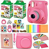 Fujifilm Instax Mini 9 Instant Camera PINK + INSTAX Film (40 Sheets) +