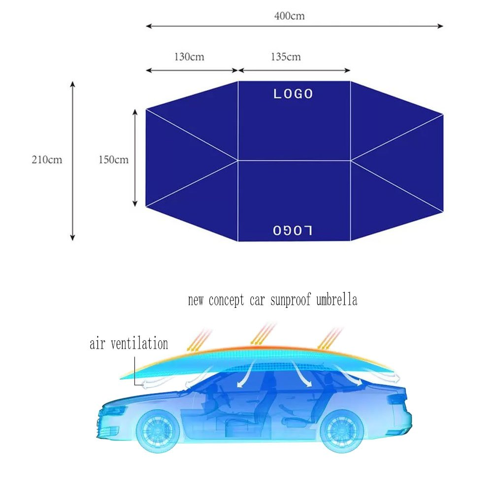 Car Umbrella Cover Automobile Movable Folded Vauxhall Remote Starter Diagram Portable Sun Proof Protection Tent Canopy 15748x8662 Sports Outdoors
