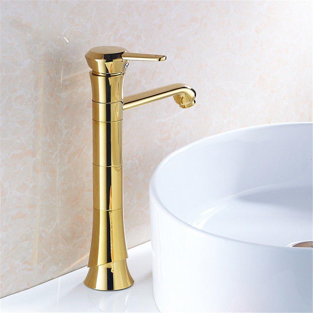 MEIBATH Waschtischarmatur Badezimmer Waschbecken Wasserhahn Küchenarmaturen Gold Warmes und Kaltes Wasser Küchen Wasserhahn Badarmatur