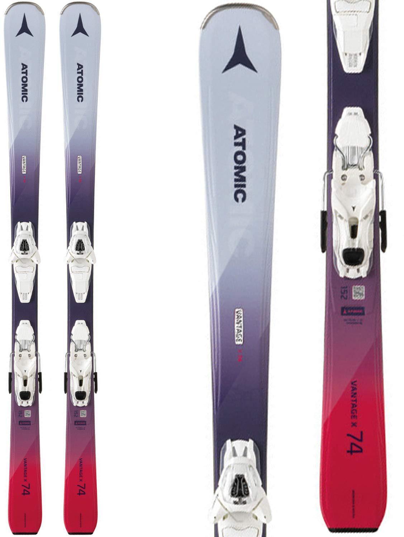 Atomic 2019 Women's Vantage X 74 Skis w/Lithium 10 Bindings (146cm) by Atomic