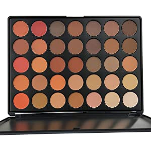 35 Colors Pro Eyeshadow Palette Makup, Pigmented Matte Shimmer Nature Eye Shadow Make up Palettes Nude Eyeshadow Beauty Cosmetics Pallet by Everfavor (Warm Natural)
