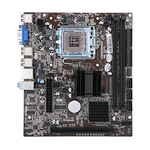 Grborn Motherboard Mainboard Intel G41 Chipset SATA Port Socket LGA771 / LGA775 DDR3 8GB for Windows 7/10