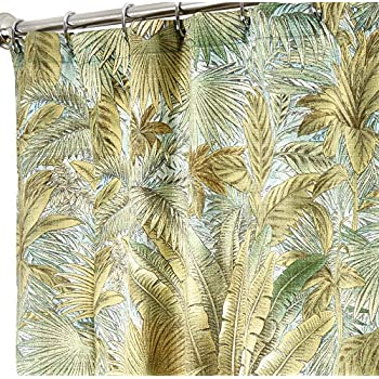 Tropical Shower Curtains Tommy Bahama Fabric Green Bahamian Breeze 72 Inches