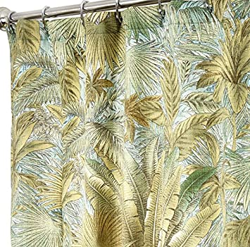 Amazon Extra Long Shower Curtains Tommy Bahama Fabric Green Bahamian Breeze 84 Inches Home Kitchen