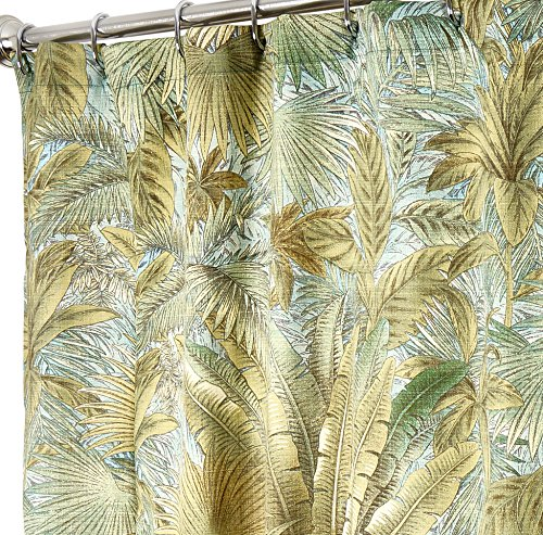 unique-shower-curtains-designer-fabric-green-tommy-bahama-breeze-84-inches-long
