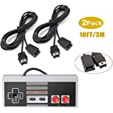 NES Classic Controller Extension Cable, 2 Pack of 3M/10 Feet Extension Cord with 1 NES Mini Classic Controller, for SNES…