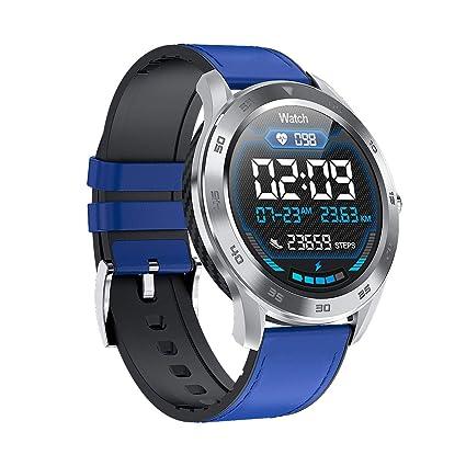 HKPLDE Bluetooth Smartwatch, Pulsera Actividad Impermeable Fitness Tracker Pulsómetro Podómetro para Hombres Mujer para Android E iOS