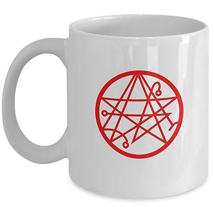 Amazon com: Esoteric coffee mug - Necronomicon gate symbol