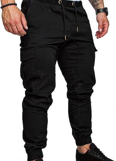 Spachy Pantalones Cargo Deportivos Para Hombre Negro Negro Xl Amazon Es Ropa Y Accesorios