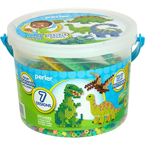 Perler Dinosaur Craft Bead Bucket Activity Kit 5004 pcs