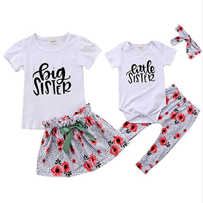 53c668a7a1f7 Amazon.com  WENBIAO Big Sister Little Sister Matching Outfit Big ...