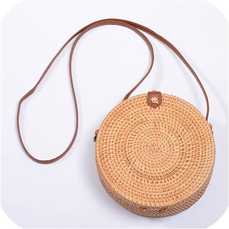 Vintage Handmade Rattan Woven Shoulder Bags Pu Leather Straps Bow Hasp Holiday Beach Crossbody Bag Messengers Women Handbag
