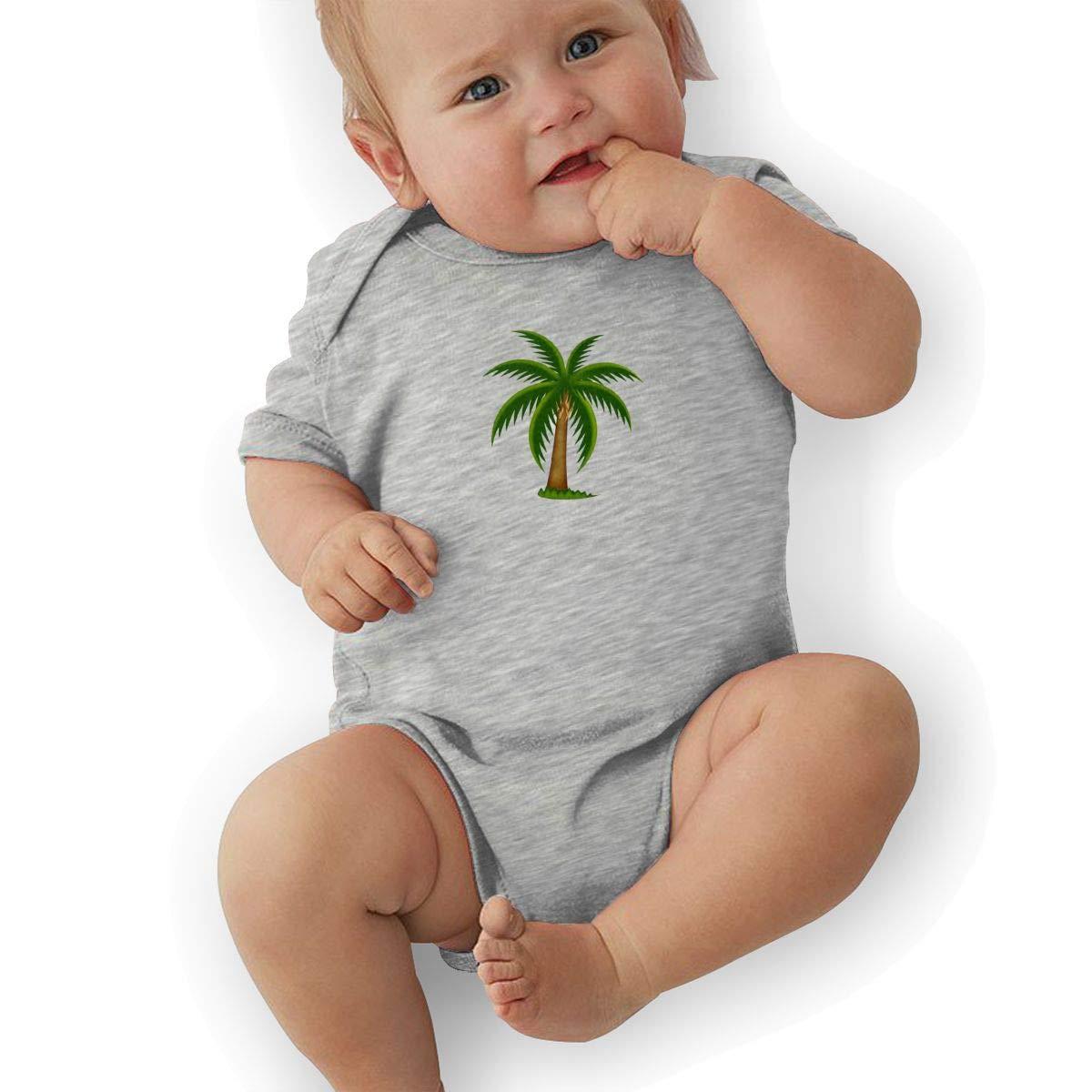 BONLOR Palm Tree Baby Boys Girls Jumpsuit Overall Romper Bodysuit Summer Clothes Gray