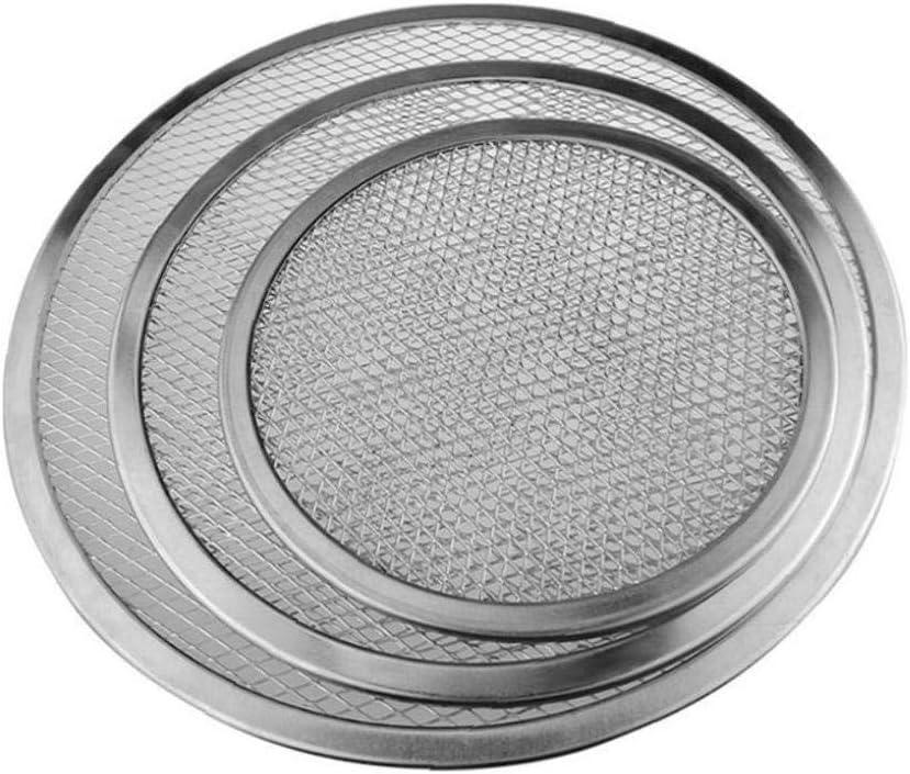 Angoter 7 Pouces Pizza Pan Aluminium Thicken antiadh/ésif Pizza Filet Rond Mesh Pan de Cuisson Plateau Outil de Cuisine
